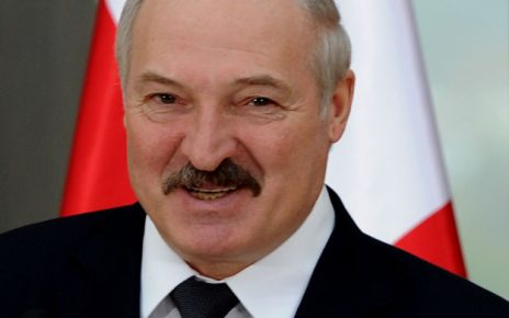 Belarus' President Alexander Lukashenko smiles during a joint press conference with his Georgian counterpart in Tbilisi on April 23, 2015. Alexander Lukashenko is on his official visit to Georgia. AFP PHOTO / VANO SHLAMOV