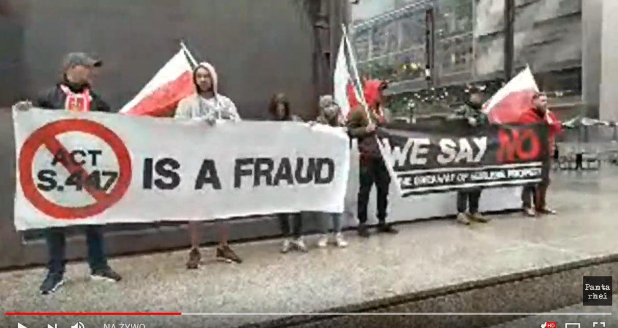 Protest Polonii przeciw S447 w Chicago!
