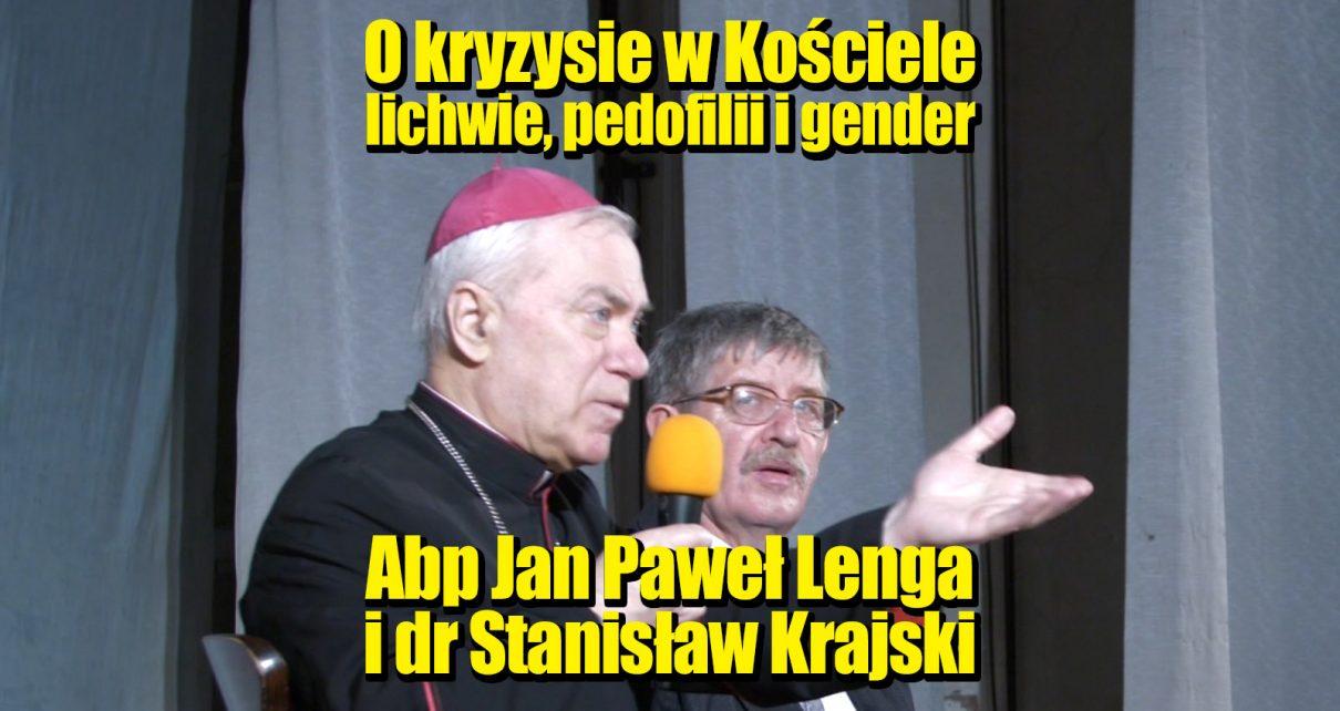 Abp Jan Paweł Lenga i dr Stanisław Krajski